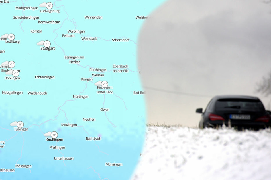 Schneefall, Regen und Wind dürften für ein mancherorts ungemütliches Fastnachts-Wochenende sorgen. (Fotomontage/Symbolbild)