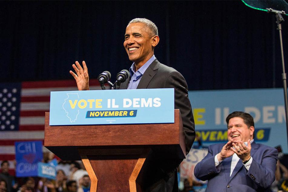 Ex-Präsident Barack Obama hatte im Vorfeld für die Demokraten geworben.