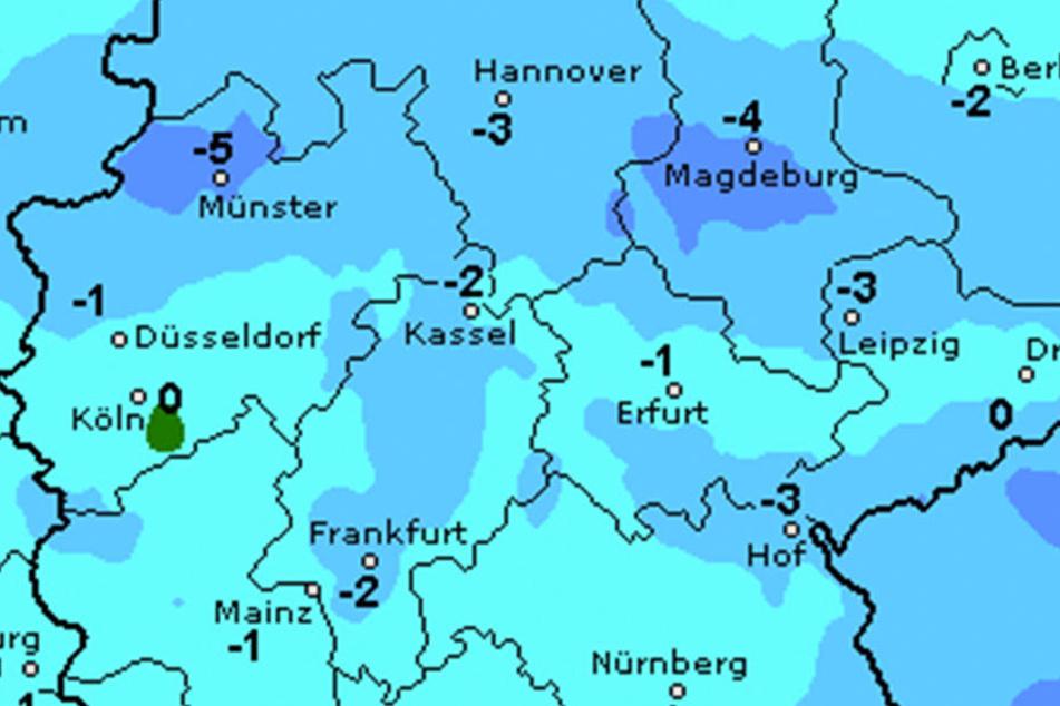 Die Temperaturen sagen sehr kühle Gradzahlen für Samstag voraus.