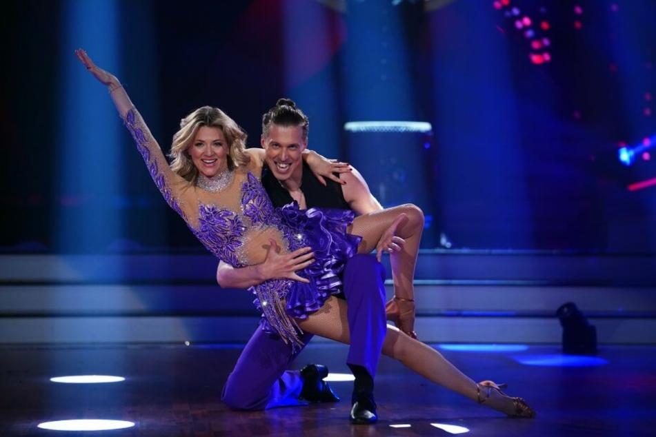 Ella Endlich und Valentin Lusin legten einen Gala-Auftritt hin.