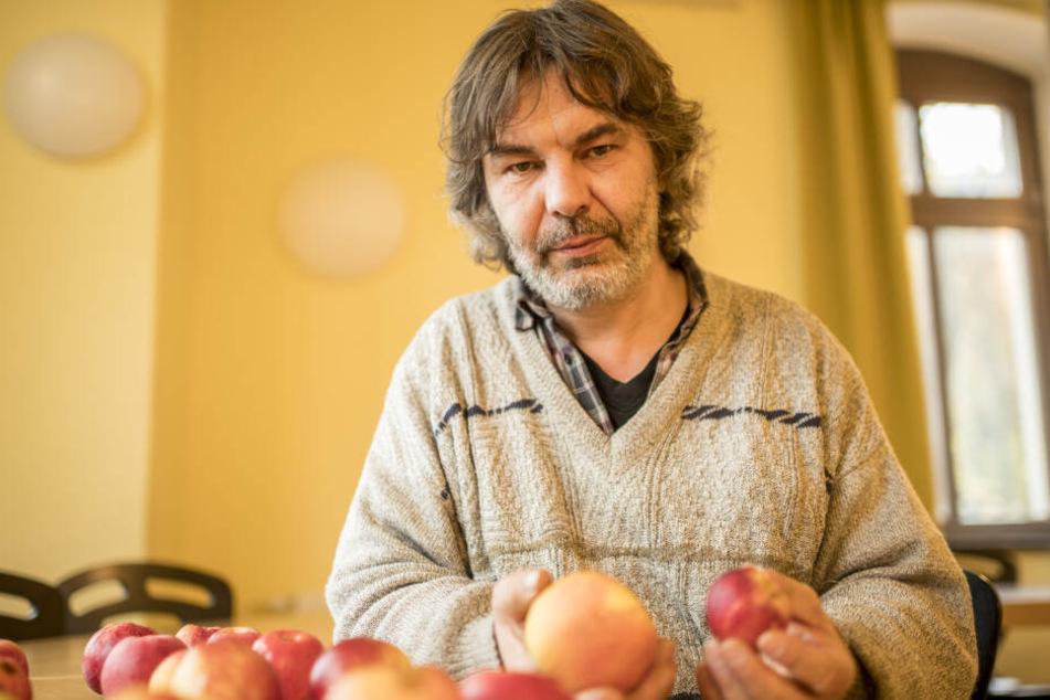 Grünen-Mitglied Reiner Amme (53) ist Obst-Bauer und Experte für Apfelsortenbestimmung.