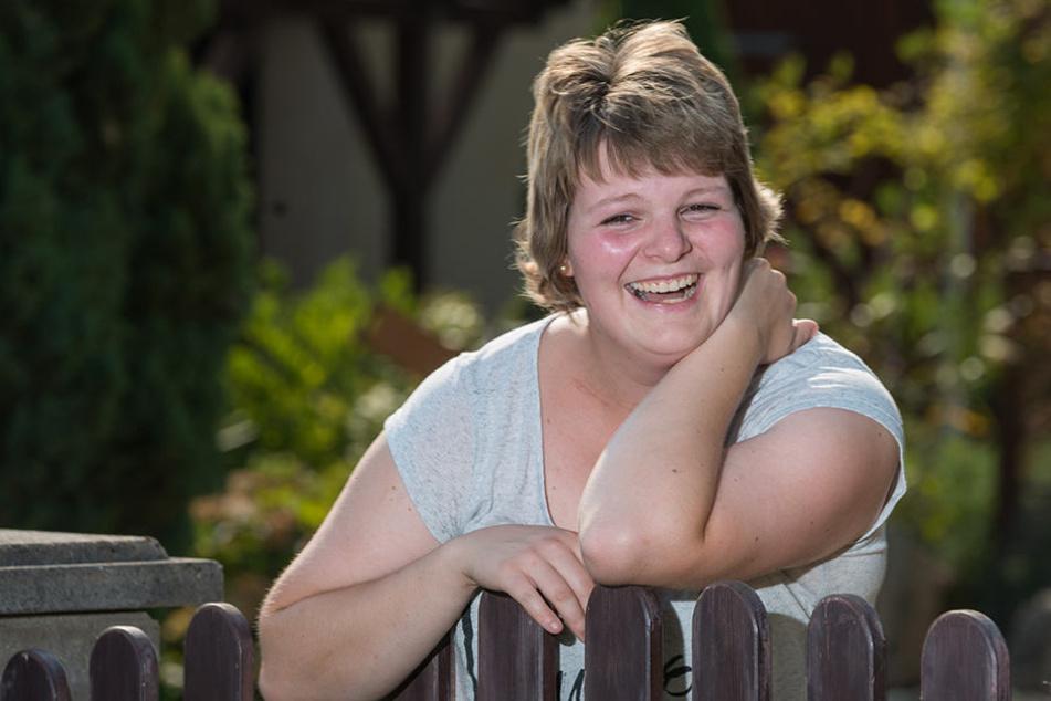 Nancy Lehmann strahlt glücklich. Sie hat den Krebs besiegt und will jetzt im  Leben durchstarten