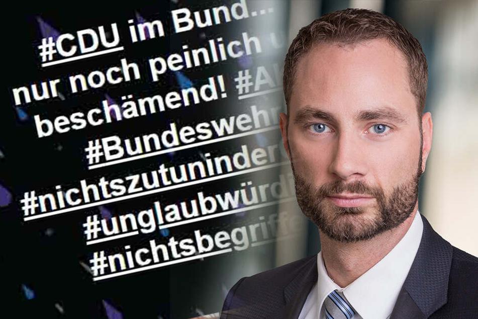 Sachsens Landtagsabgeordneter Patrick Schreiber pöbelt gegen AKK