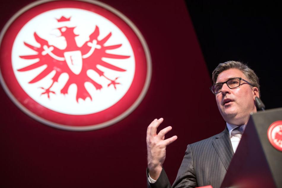 Stadionausbau und -modernisierung, E-Sports, Digitalisierung: Eintracht-Vorstand Axel Hellmann hat große Dinge mit der Eintracht vor.