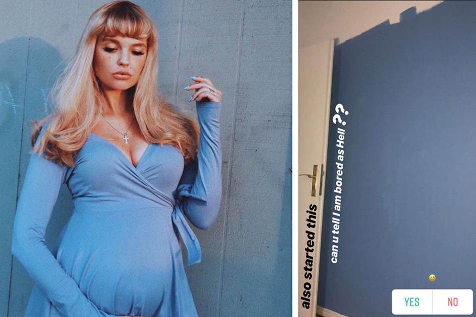Bonnie Strange hat eine neue Lieblingsfarme: Babyblau.