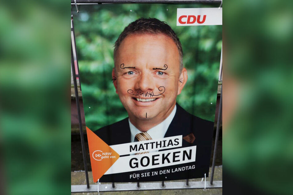 Auch die Plakate von CDU-Politiker Matthias Goeken wurden verschandelt.