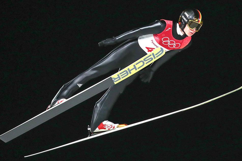 Andreas Wellinger errang die 2. Medaille bei Olympia.