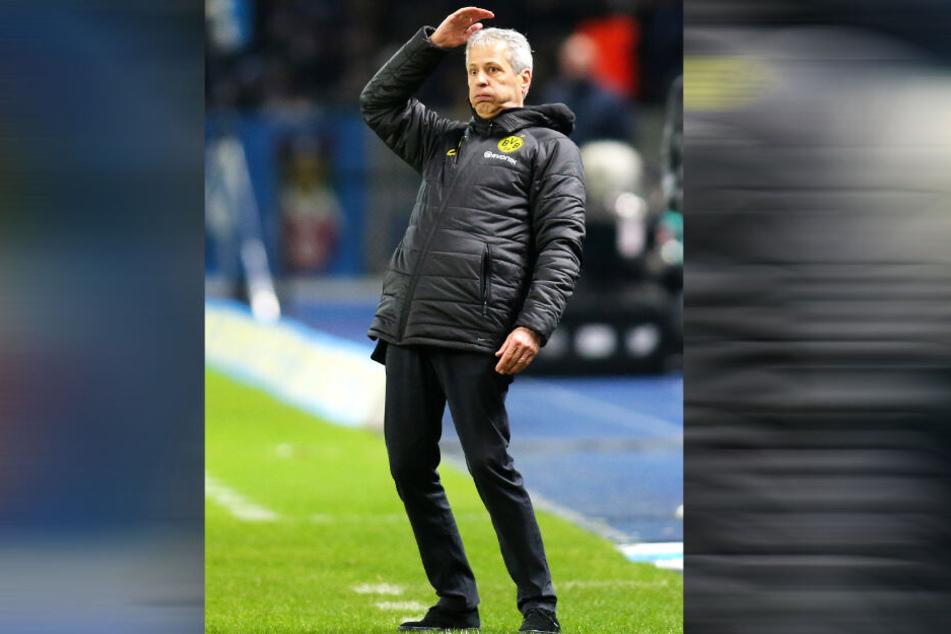 BVB-Coach Lucien Favre konnte nach dem hart erkämpften 2:1-Sieg von Borussia Dortmund bei Hertha BSC kräftig durchpusten.