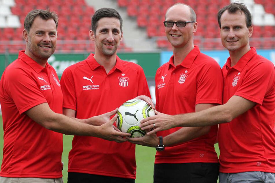 FSV-Geschäftsführer Christian Breiner (Zweiter von links) muss den DFB überzeugen, ansonsten drohen harte Strafen für den Verein.
