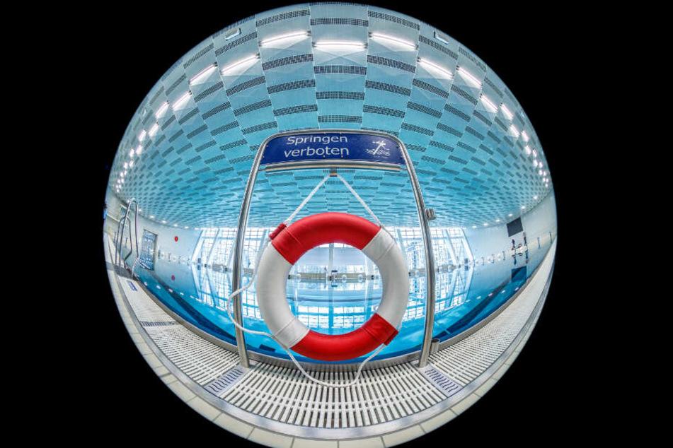 Eine runde Sache: Der neue Schwimmsportkomplex Freiberger Platz.