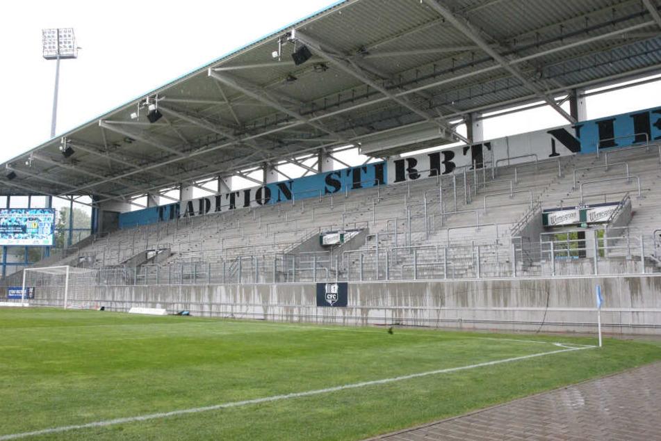 Blocksperre nach Nazi-Skandal, Die Südtribüne blieb beim heutigen Spiel leer.