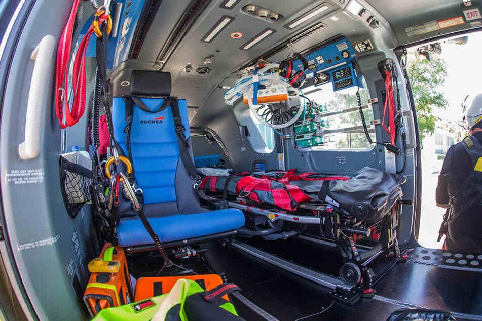 Der Innenraum des neuen Hubschraubers ist beheizt und bietet mehr Platz zur Versorgung des Patienten.