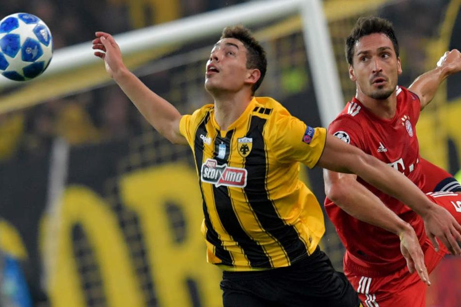 Der FC Bayern München konnte sein Gastspiel bei AEK Athen für sich entscheiden.