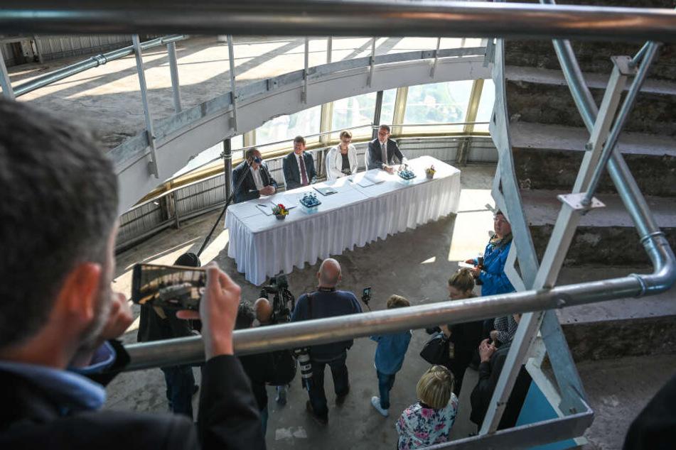 Am Samstag unterzeichneten Vertreter von Stadt, Land, Bund und Eigentümergesellschaft eine Absichtserklärung.