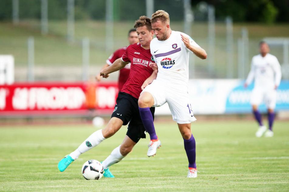 Im Sommer absolvierten Aue und Hannover in Halberstadt ein Testspiel, das 3:3 endete.