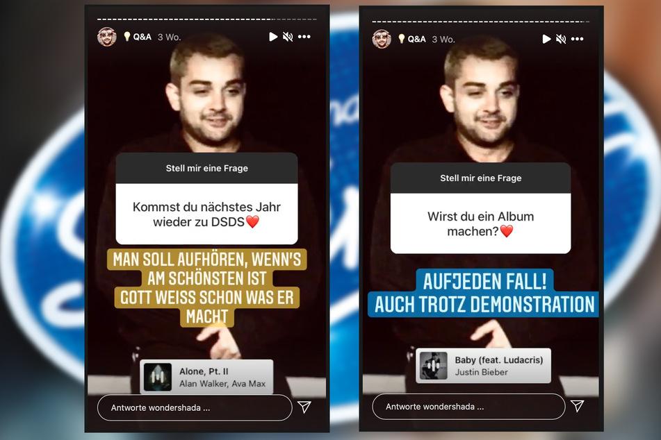 In Fragerunden auf Instagram erklärte Shada seine weiteren Pläne.