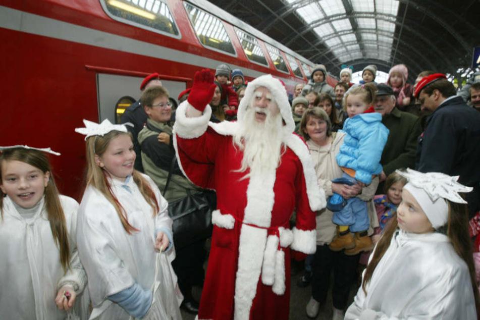 Weihnachtsmann kommt früher als geplant in Leipzig an