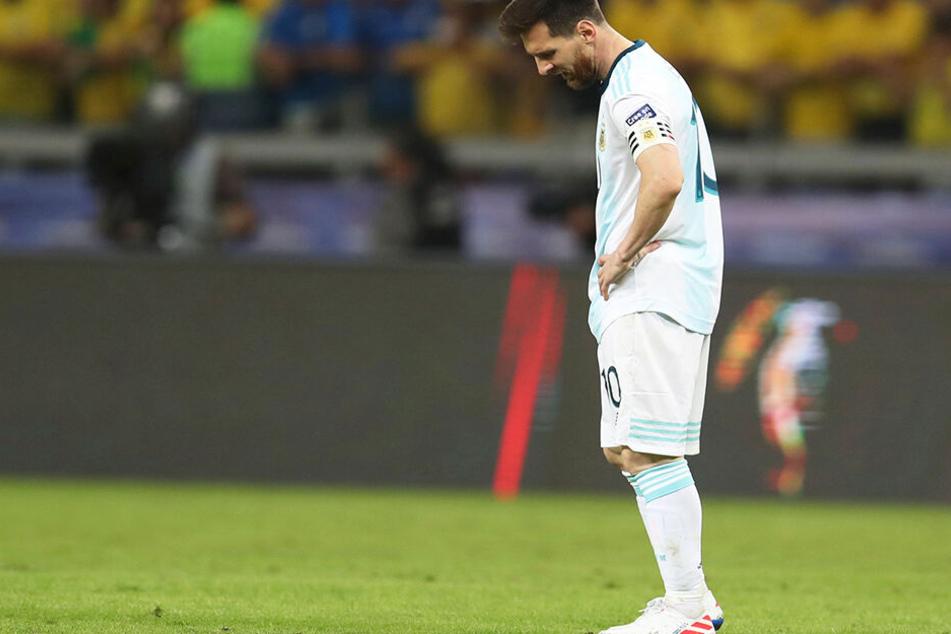 Bild mit Symbolcharakter. Lionel Messi im Trikot der argentinischen Nationalmannschaft
