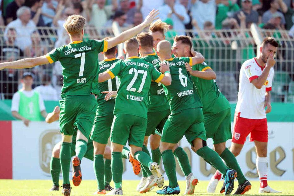 Kai Druschky (26) trug sich am 19. August 2018 mit seinem Siegtor gegen Jahn Regensburg in die Chemie-Geschichtsbücher ein.