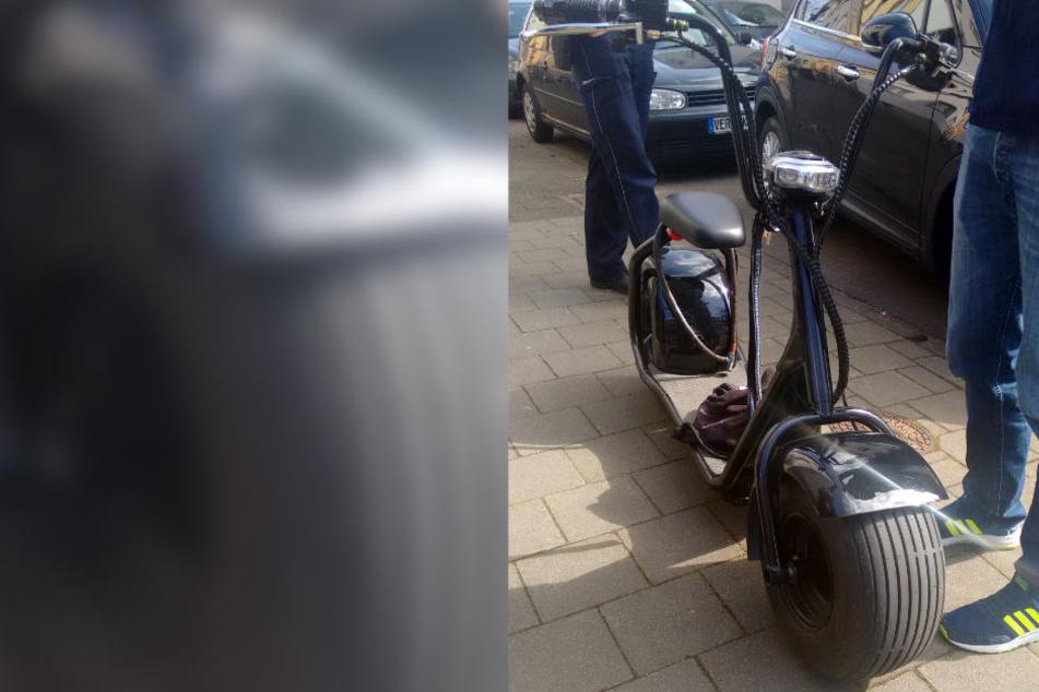 Dieses innovative Gefährt brachte die Polizisten zum Staunen.