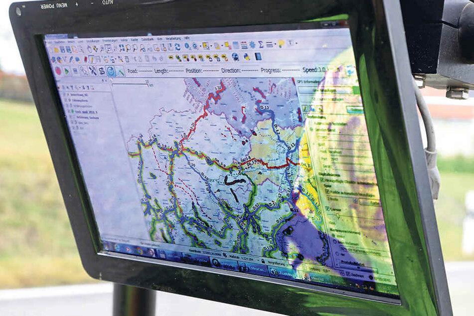 Im Auftrag des Freistaats wird das Radnetz erfasst und anschließend in eine Datenbank eingepflegt.