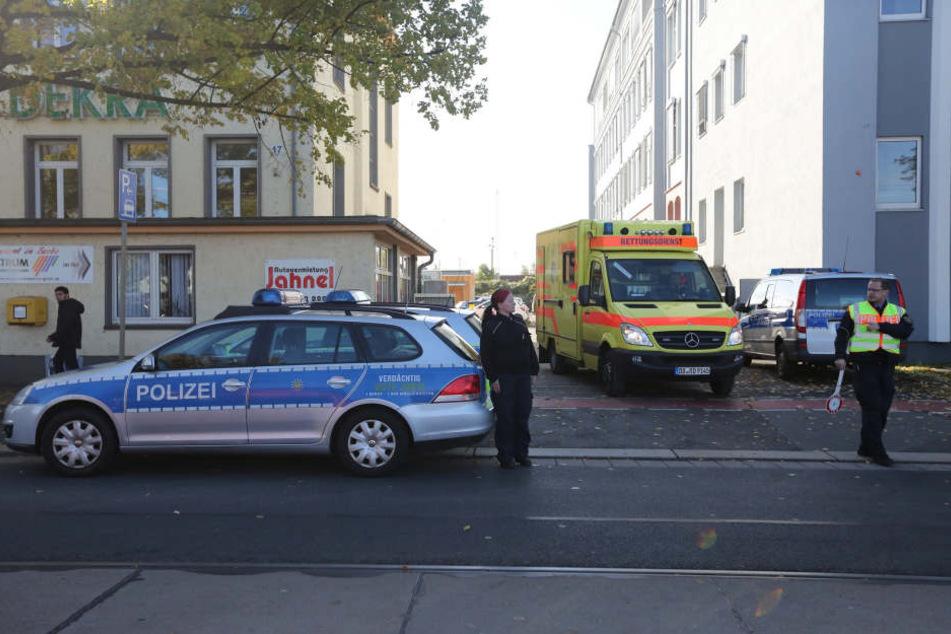Die Polizei ist Stammgast im Asylheim an der Hamburger Straße.