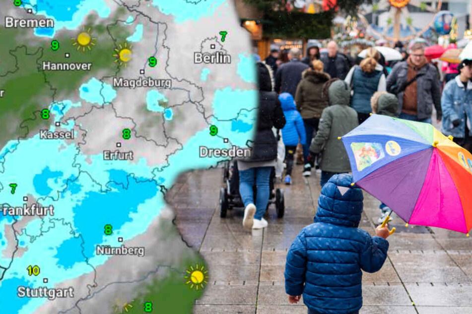 Fotomontage: Der 2. Advent wird in Deutschland ungewohnt mild (Symbolbild).