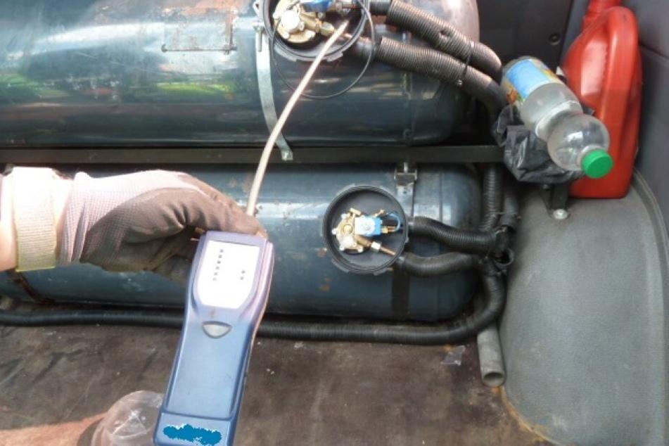Die Autogasanlage ließ die Beamten erschüttert zurück.