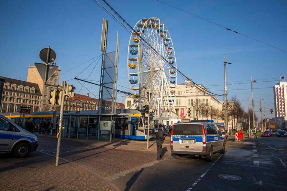 Auch der Leipziger Weihnachtsmarkt wird abgesichert.