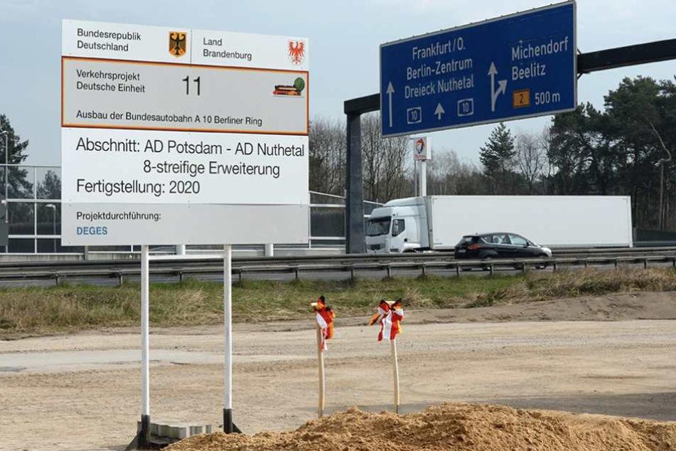 Der südliche Berliner Ring soll mit einem Millionenzuschuss schneller fertig werden, als geplant.