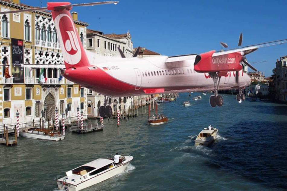 Flug nach Venedig: Passagiere müssen bei Landung Schwimmwesten tragen