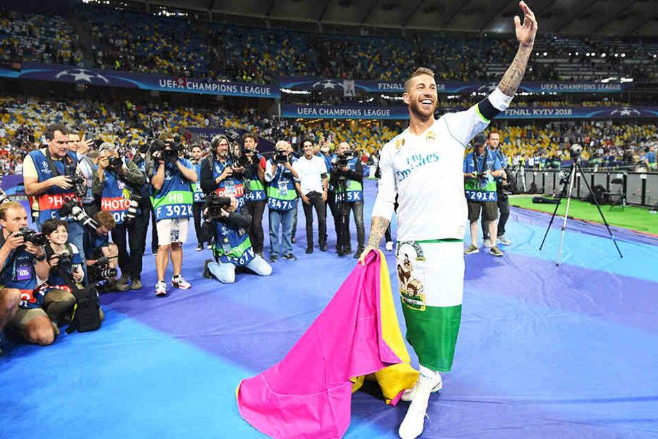 Pure Freude über den Champions-League-Sieg trotz zweier Unsportlichkeiten: Real Madrids Kapitän Sergio Ramos.
