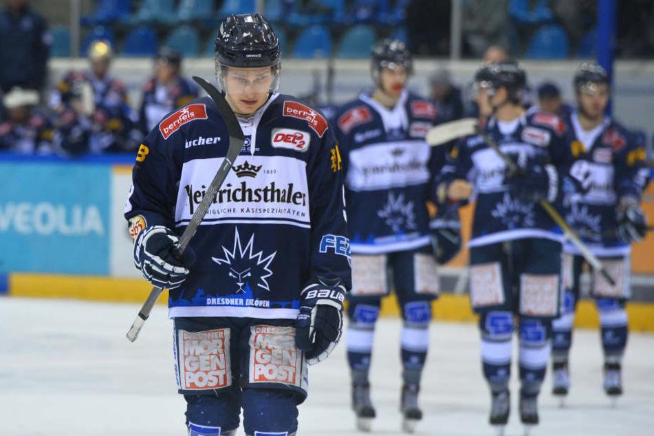 Arturs Kruminsch und seine Mitspieler waren nach der vierten Niederlage gegen Bietigheim bedient.