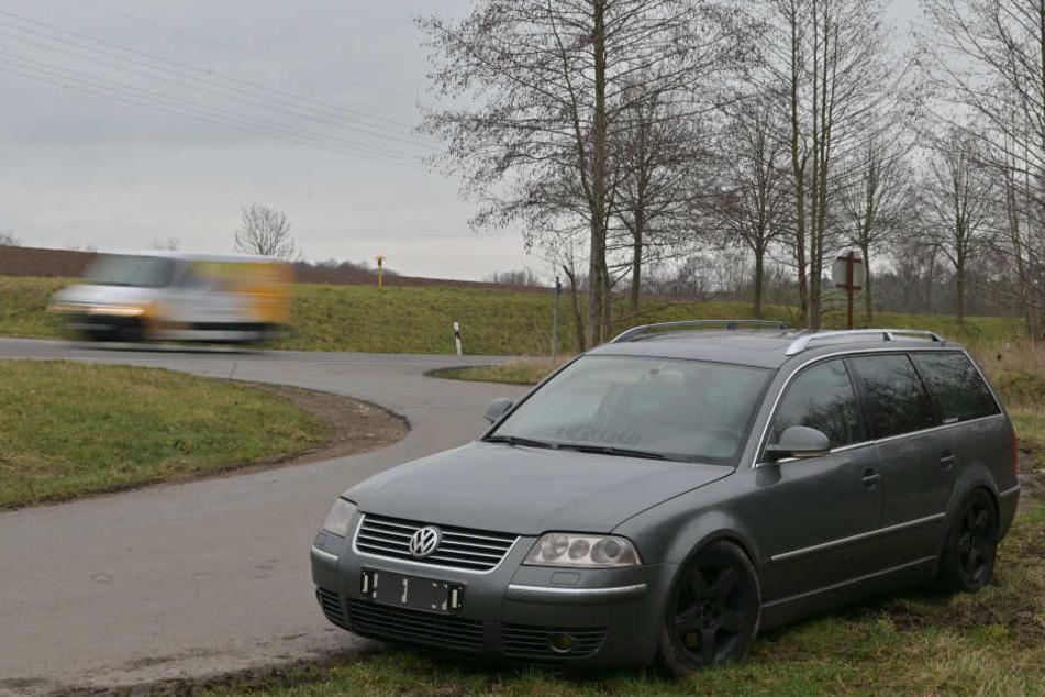 Der VW konnte in der Lichtenauer Erdbeersiedlung gestoppt werden.
