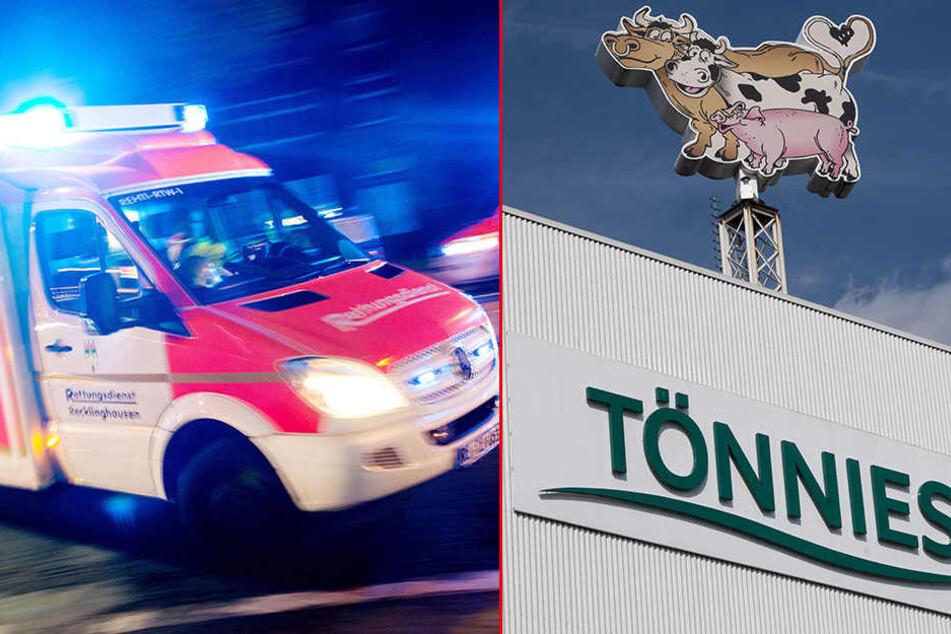 Ein 47-jähriger Arbeiter ist im Zerlegebetrieb des Tönnies-Fleischwerks in Weißenfels unter ein Fließband gezogen und tödlich verletzt worden.