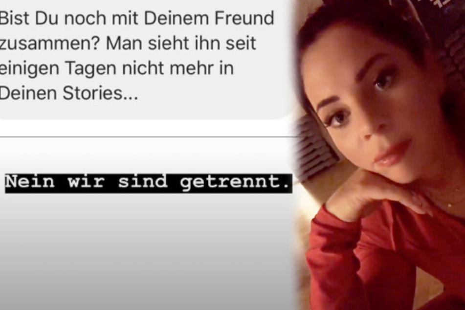 Jenny Frankhauser antwortete ihrem Fan, dass sie und Steffen getrennt seien. (Fotomontage)