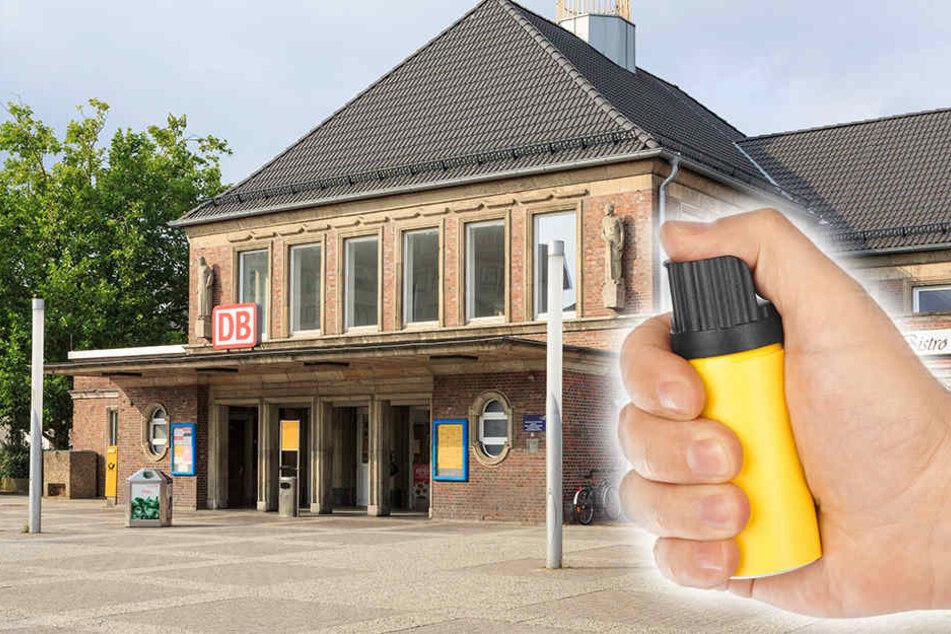 Die Ermittlungen wegen des Reizgas-Austritts am Bahnhof in Rheine dauern an. (Symbolbild)