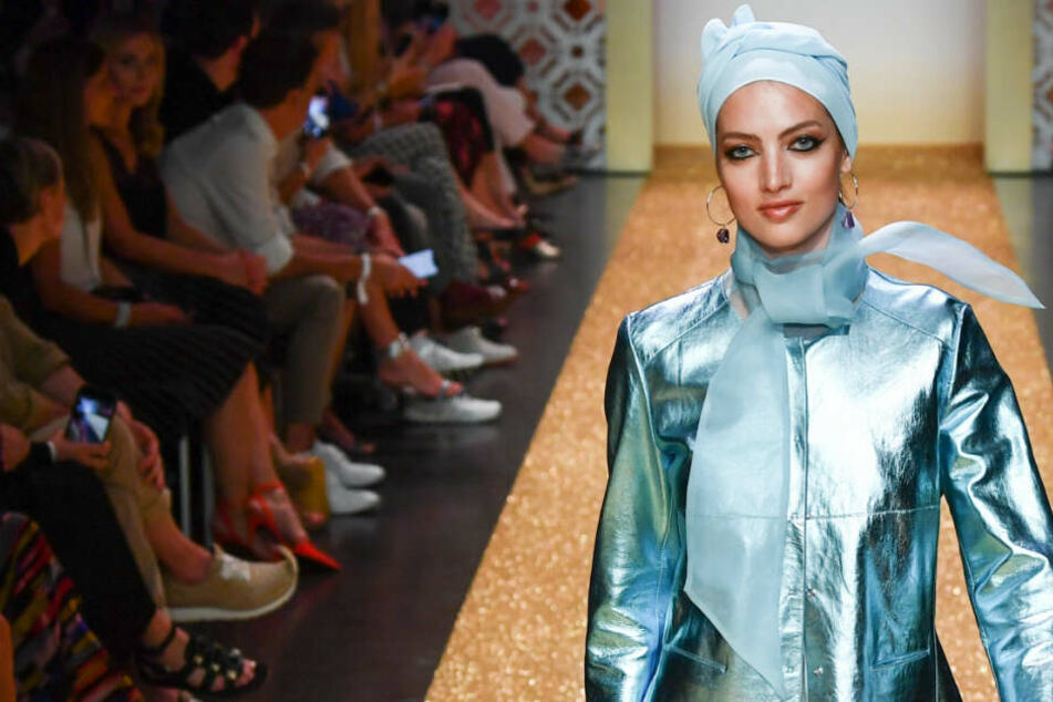 """Models präsentieren Mode auf der Marc Cain Show """"Le Riad"""" während der Fashion Week. (Archivbild)"""