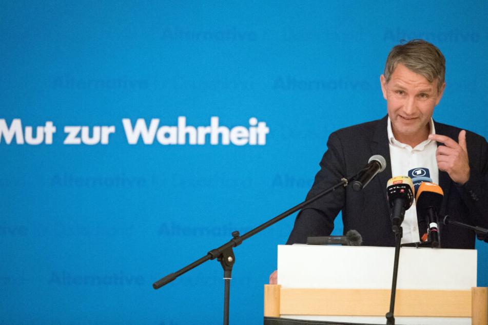 Björn Höcke beim Wahlkampfauftakt der AfD in Sachsen.