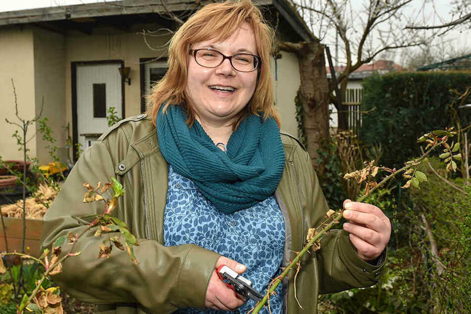 Nicole Kramer(42) steht beim Stadtverband der Dresdner Gartenfreunde mit Expertenrat immer gerne zur Seite.