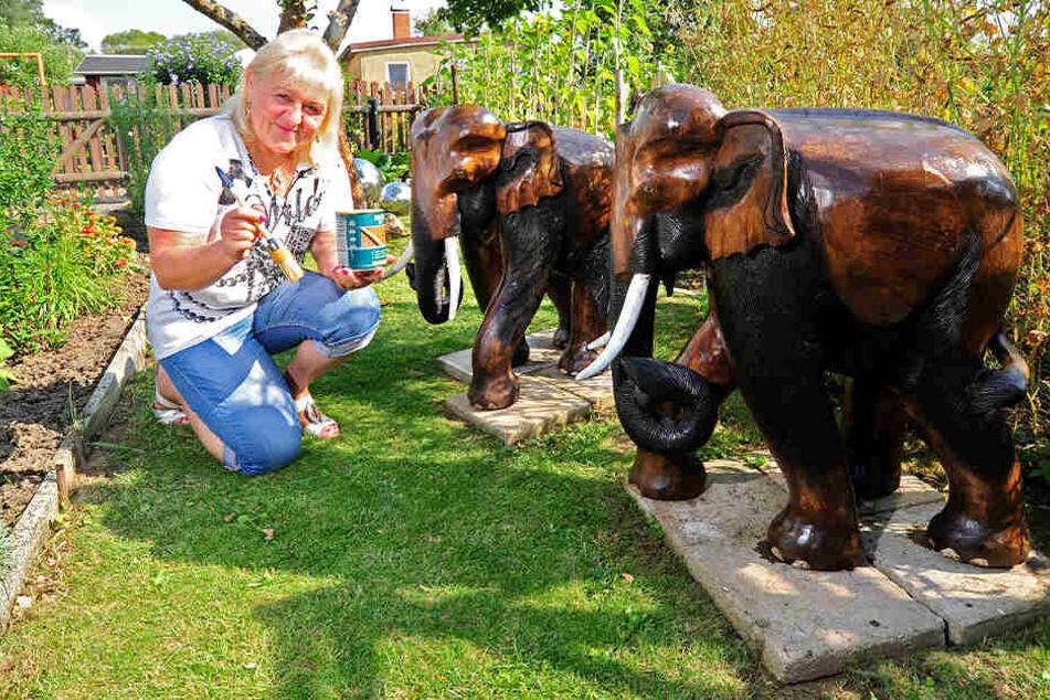Regina Scholz (61) freut sich über die Rückkehr ihrer Elefanten.