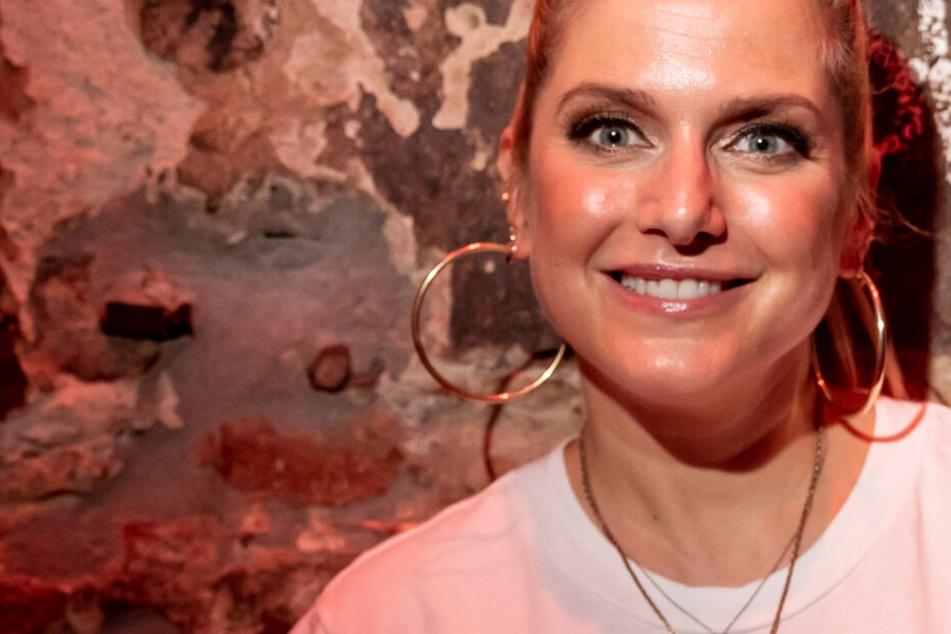 Das Foto aus dem September zeigt Popsängerin Jeanette Biedermann nach einem Konzert in Berlin.