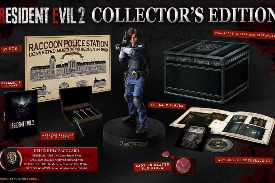 Zusammen mit Capcom verlost TAG24 eine Collector's Edition des Spiels. Diese ist randvoll gefüllt mir coolen Sachen, wie Ihr auf dem Foto sehen könnt.