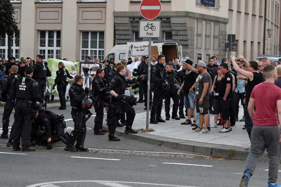 Die Stimmung rund um die Demonstrationen war von Anfang an aufgeheizt.
