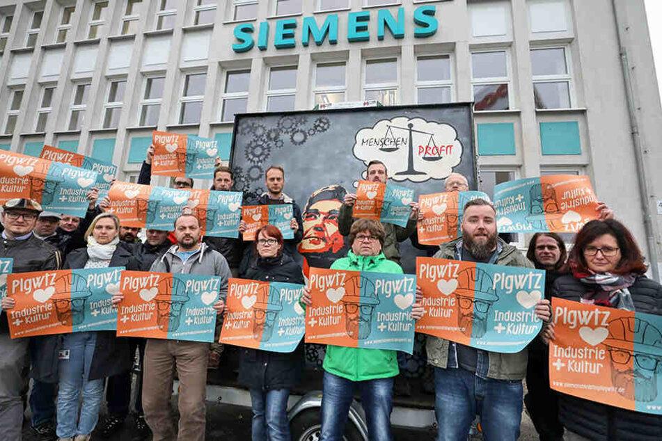 Die Mitarbeiter des Siemens-Turbomaschinen-Werks bangen um ihre Arbeitsplätze.