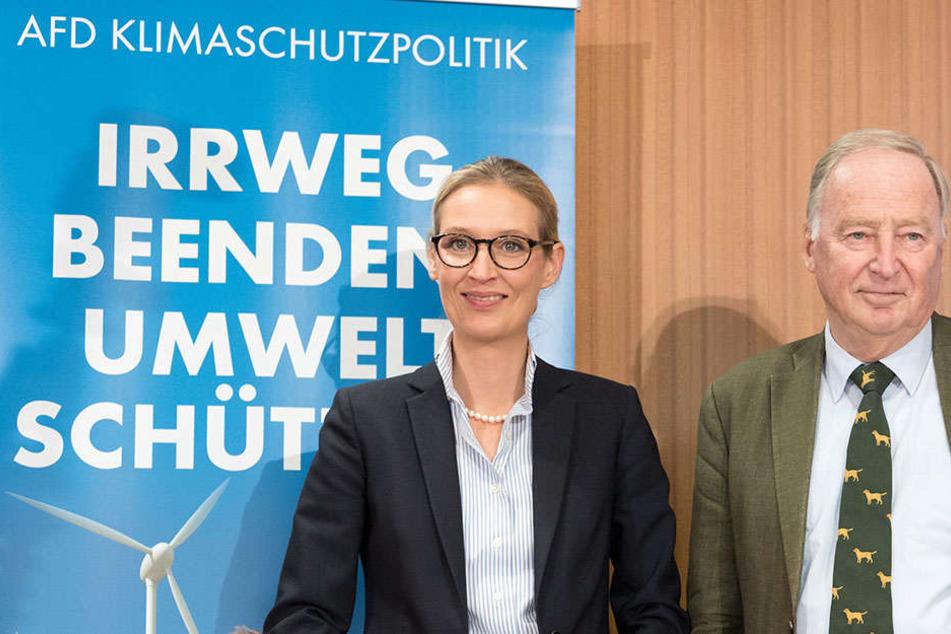 Alice Weidel (38) und Alexander Gauland, die AfD-Spitzenkandidaten für die Bundestagswahl, äußerten sich auf einer Pressekonferenz zum Thema Klimawandel.