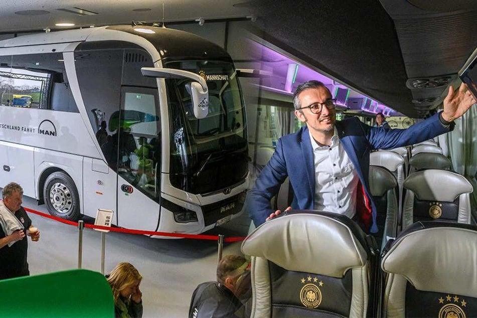Neuer Bus der Fußball-Nationalmannschaft war in Plauen zu bestaunen