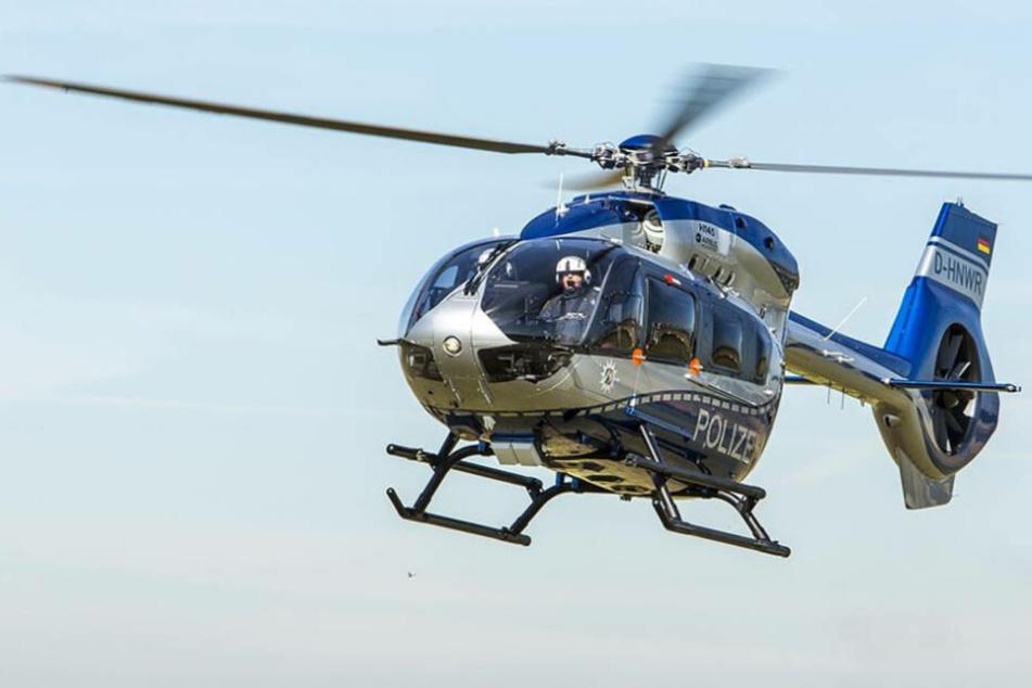 Bislang blieb die Fahndung nach dem Bankräuber trotz Hubschrauber-Einsatz erfolglos.