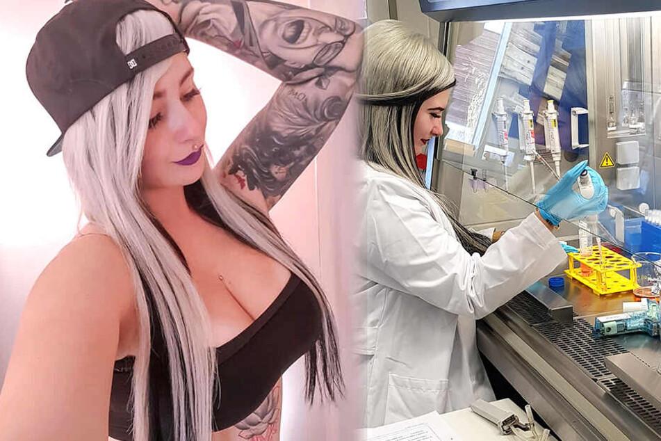 Tattoos sind das Markenzeichen der 27-Jährigen.