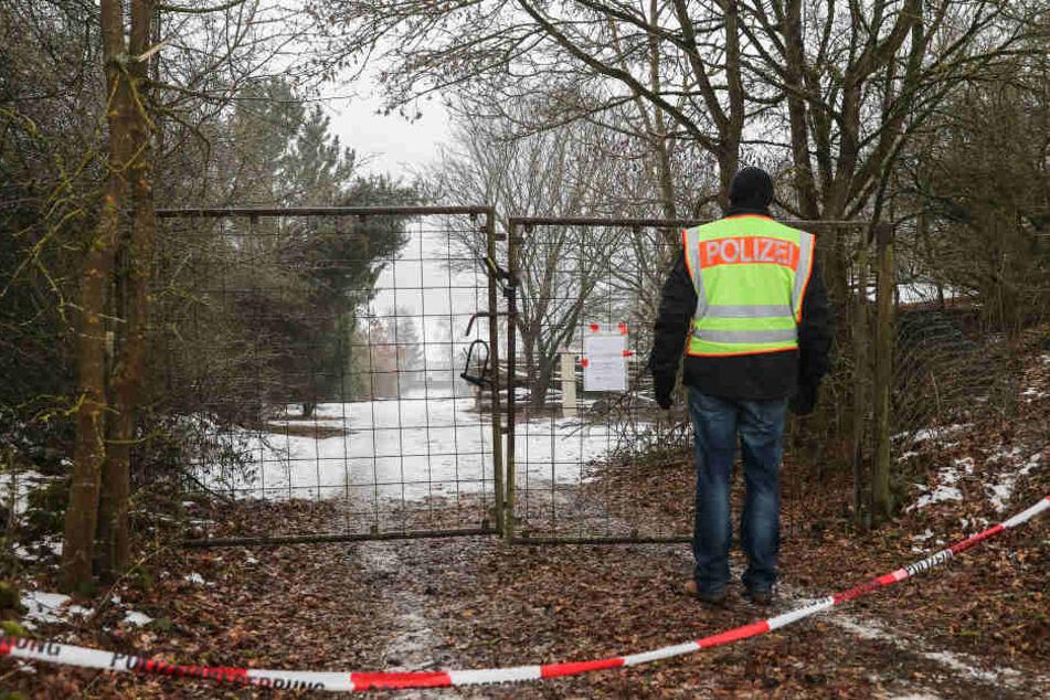Die Zufahrt zu dem privaten Grundstück in Arnstein.